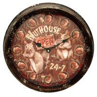 "Nut House Metal Clock 15"""