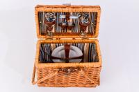 Picnic and Beyond Willow Picnic Basket for 2