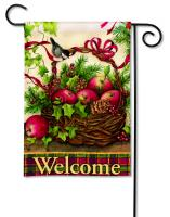 Magnet Works Winter Basket Garden Flag