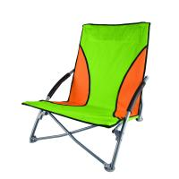 Stansport Low Profile Fold-Up  Chair - Green/Orange
