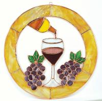 Gift Essentials Small Last Drop of Wine Circle Window Panel