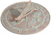 Dragonfly Sundial - Copper Verdi