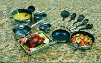 Cookpro 18 Pc Stainless Steel Belly Cookware With Non-Stick Coating