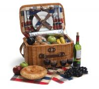 Picnic Plus Rustica 4 Person Basket - Plaid Lining