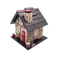 Home Bazaar Windy Ridge Bird Feeder - Stone/Red/Black