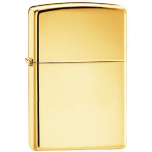 Zippo Regular High Polish Brass, Plain