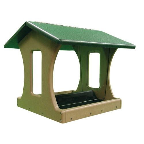 Birds Choice 4 Gallon 4-Sided Hopper Bird Feeder w/ Green Roof