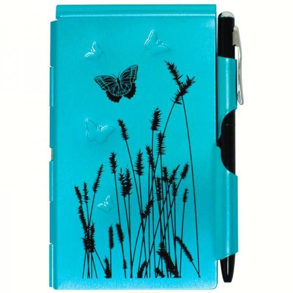 Wellspring Flip Note Natural Elements Blue Butterfly
