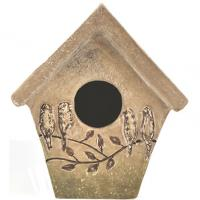 Classic Brands Ceramic Perched Bird House