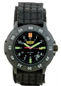 Uzi Protector Watch with Black Face and Nylon Strap