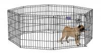 MidWest Metals Black E-Coat Pet Exercise Pen 42 in With Door