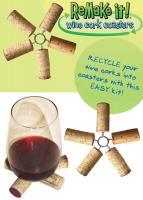 Streamline Wine Cork Coaster Set