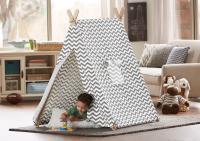 Indoor Kid's Grey & White Zigzag Tent