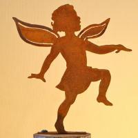 Elegant Garden Design Girl Fairy Silhouette