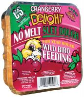 C & S Products Cranberry Delight No Melt Suet Dough +Frt