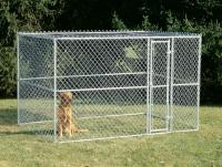 MidWest Metals Chain Link Portable Kennel - Includes a Sunscreen 10ft L x 6ft W x 6ft H