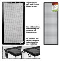 Screen Cover Metal Blk 36x12