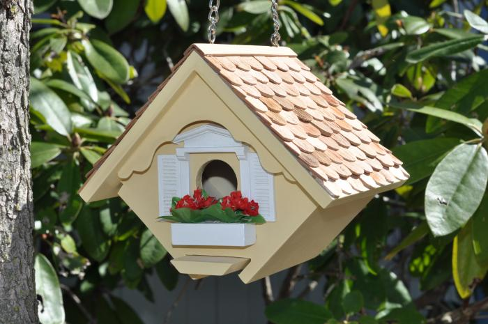 Home Bazaar Little Wren Bird House, Yellow