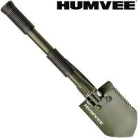 Humvee Folding Shovel with Pickaxe, Rubber Grip, Olive Drab