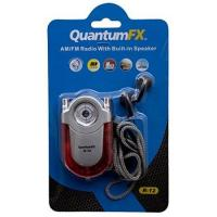 Quantum Fx Red Am Fm Radio With Led Flashlight Belt Clip