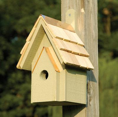 Heartwood Classic Birdhouse, Celery