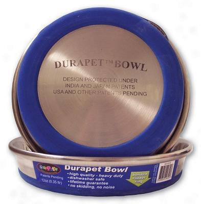 Durapet Stainless Steel Cat Dish, 12 oz.