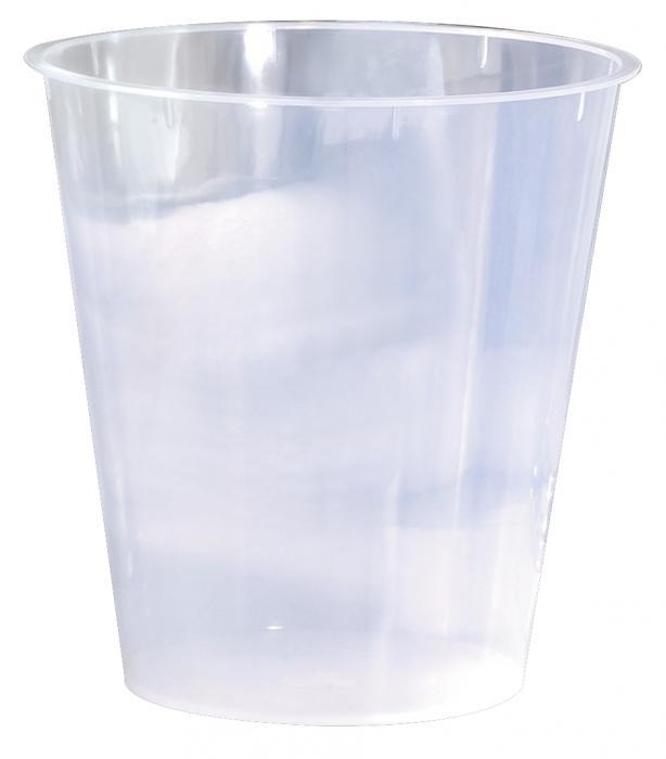 Nu Steel Plastic Wastebasket Liner, 8 qt