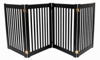 Large 4 Panel Free Standing EZ Pet Gate - Black