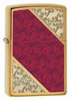 2012 Zippo Choice elegant damask pattern on brushed brass