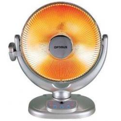 """Optimus H-4438 14"""" Energy-Saving Oscillating Dish Heater with Remote Control"""