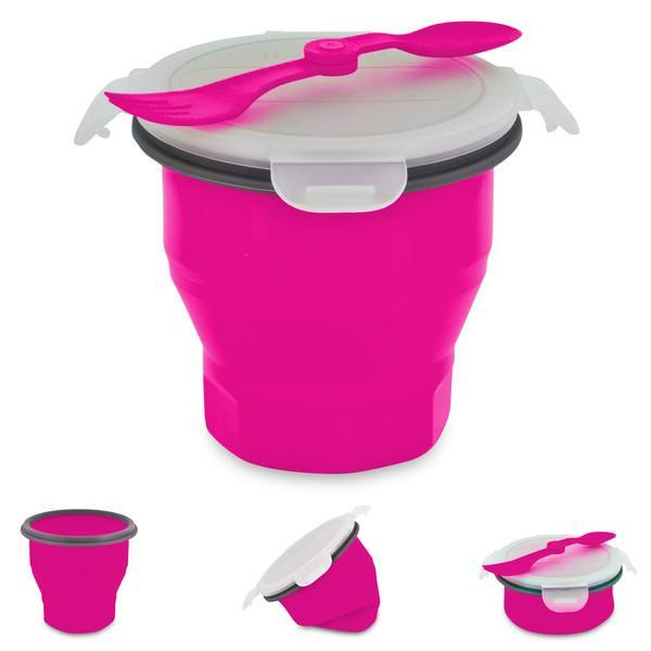 Smart Planet Pink Collapsible Soup And Salad Bowl