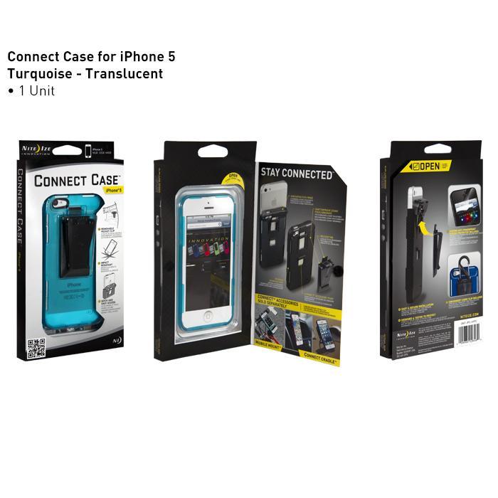 Nite-ize iPhone 5 Connect Case, Translucent Turquoise