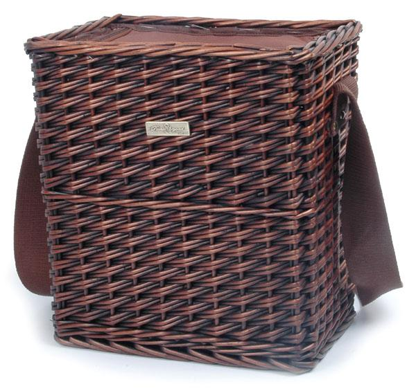 Picnic & Beyond Traditional Carrier Willow Cooler Basket