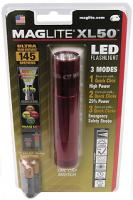 MagLite XL50 LED Flashlight, Red, Blister