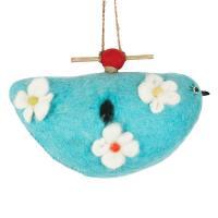 DZI Handmade Designs Bluebird Felt Birdhouse