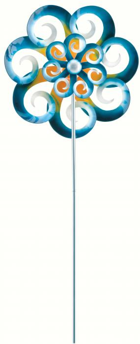 Regal Art & Gift 26 inch Kinetic Stake, Double Wave