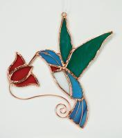Gift Essentials Hummingbird with Red Flower Sun Catcher