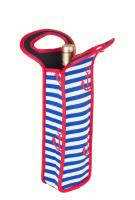 Zee's Creations Neoprene Anchor Design Wine Bottle Tote (Holds 1 Bottle)
