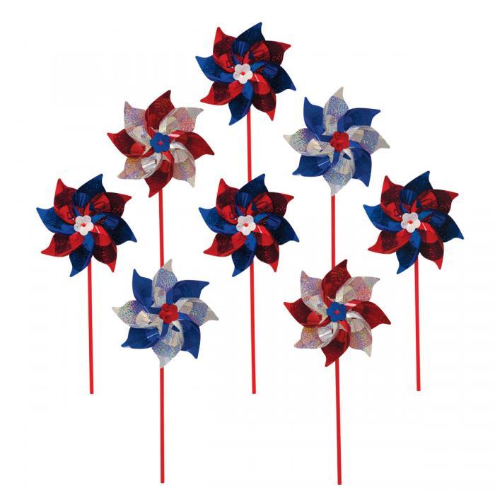 In The Breeze Patriot Pinwheel - 8pc