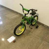 "16"" John Deere Bicycle with Training Wheels"