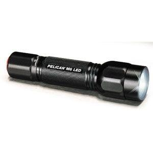 Pelican Products M6 LED Light, Black Body, w/2 CR123 Batteries & Holster