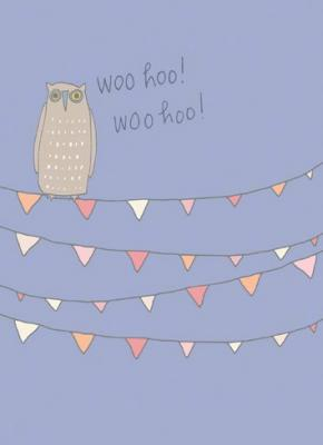 Tree Free Greetings Woo Hoo Owl Congrats