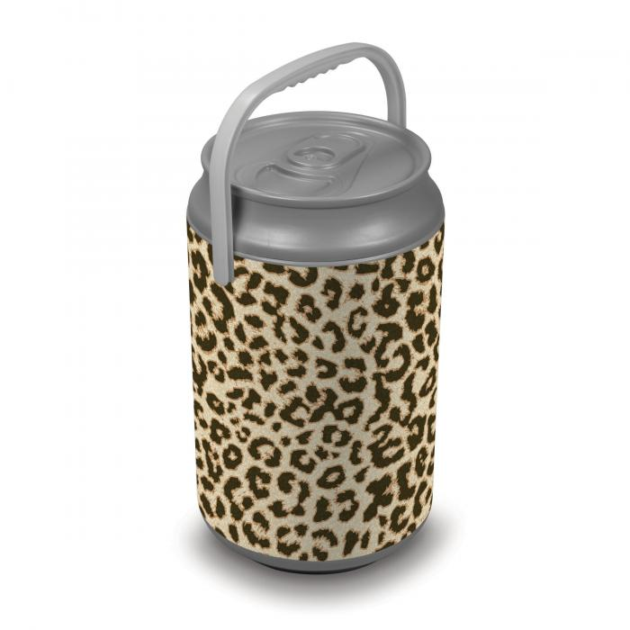Picnic Time Extra Large Insulated Mega Can Cooler, Cheetah Print Can