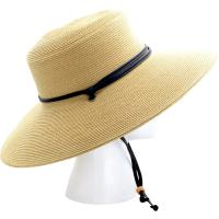 Sloggers Wide Brim Braided Hat Light Brown