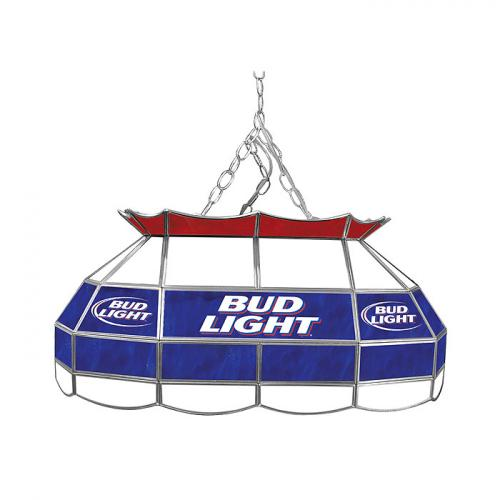 bud light 28 inch stained glass pool table light. Black Bedroom Furniture Sets. Home Design Ideas