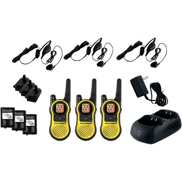 Motorola MH230TPR 23-Mile Talkabout 2-Way Radios Triple Pack with Accessories