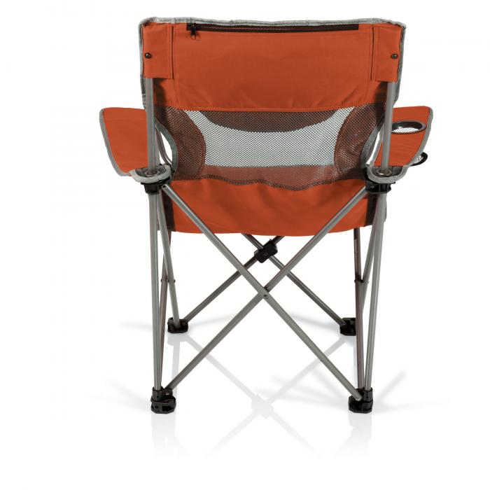 Picnic Time Campsite Folding Camp Chair Burnt Orange Grey