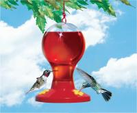Perky Pet Clear Plastic Hummingbird Bird Feeder with 16 Ounce Nectar