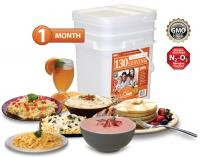 Relief Foods 130 Serving - 1 Month Emergency Food Supply - Entrée & Breakfast Meals