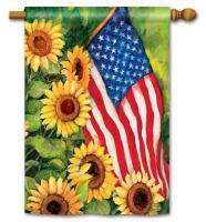 Magnet Works American Sunflowers Standard Flag